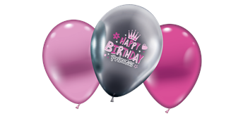 "Karaloon - 6 Ballons ""Happy Birthday Princess"""