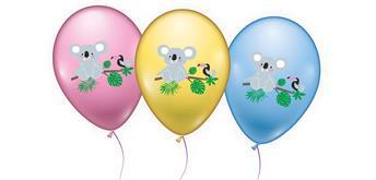 """Karaloon - 6 Ballons """"Koala"""" 28 - 30 cm"""