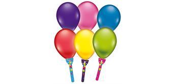 Karaloon - 6 Ballons mit Halter aus Karton