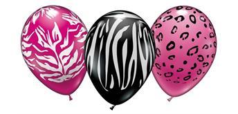 "Karaloon - 6 Ballons ""Wild Animal Print"" 28 - 30 cm"