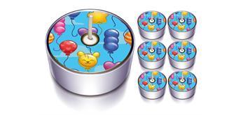 Karaloon - 6 Design-Lichter Ballon Party