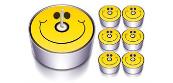 "Karaloon - 6 Design-Lichter ""Sunny Face"""