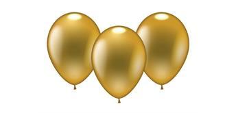 Karaloon - 8 Ballons metallic gold Ø 23-25 cm