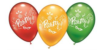 "Karaloon - 8 Ballons ""Party"" 23 - 25 cm"