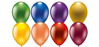 Karaloon - 8 Metallic Ballons 23 - 25 cm