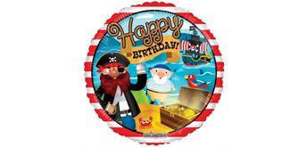 """Karaloon - Folienballon """"Birthday Pirat"""" 45 cm"""
