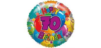 """Karaloon - Folienballon """"Happy Birthday 70"""" 45 cm"""