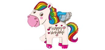 Karaloon - Folienballon Happy Birthday Pony 114 cm