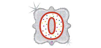 """Karaloon - Folienballon Kerze """"0"""" 46 cm"""