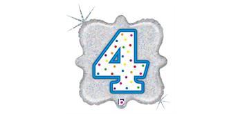 """Karaloon - Folienballon Kerze """"4"""" 46 cm"""