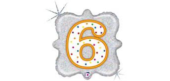 """Karaloon - Folienballon Kerze """"6"""" 46 cm"""