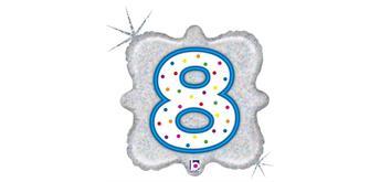 """Karaloon - Folienballon Kerze """"8"""" 46 cm"""