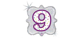 """Karaloon - Folienballon Kerze """"9"""" 46 cm"""