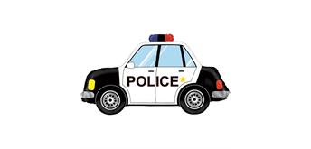 Karaloon - Folienballon Polizeiauto 86 cm