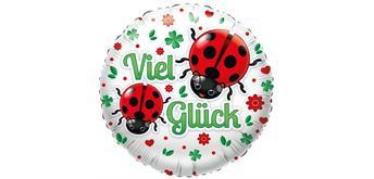 """Karaloon - Folienballon """"Viel Glück"""" Marienkäfer 46 cm"""