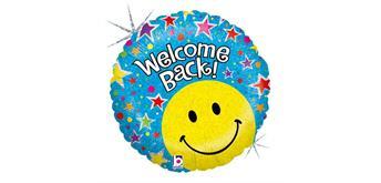 Karaloon - Folienballon Welcome Back Smiley 46 cm