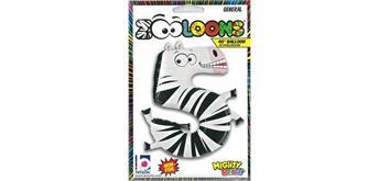Karaloon - Folienballon Zahlen 5 Zebra 102 cm