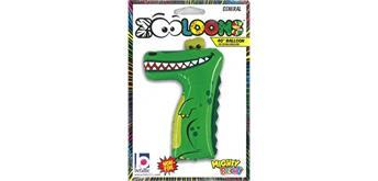 Karaloon - Folienballon Zahlen 7 Krokodil 102 cm