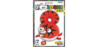 Karaloon - Folienballon Zahlen 8 Katze 102 cm