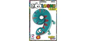 Karaloon - Folienballon Zahlen 9 Gecko 102 cm