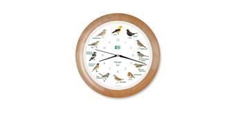 KooKoo Uhr Singvögel Holz RC-Funkquarzwerk