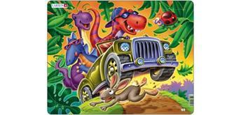 Larsen Puzzle Dinos auf Jeepsafari