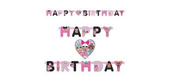 LOL Surprise Girlande Happy Birthday 182 x 12 cm