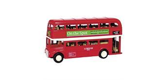 London Bus aus Spritzguss, Länge 12 cm