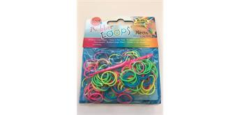 Loom Bands 100 er Beutel, Neon glow in the Dark