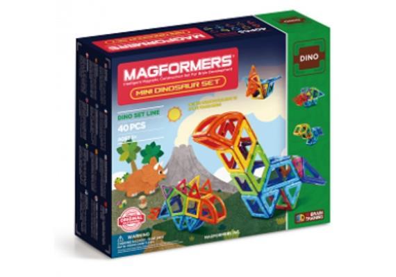 Magformers Mini Dinosaurer Set 40 teilig -3+