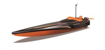 Maisto RC Speed Boat ohne Batterien, orange/schwarz