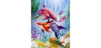 Malen nach Zahlen Set Orcas 40 x 30 cm