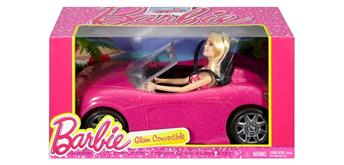 Mattel Barbie Glam Cars brio & Puppe