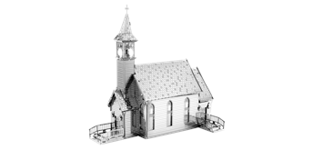 Metal Earth MMS156 - Old Country Church, 2 Sheets