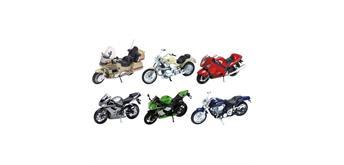 Motorräder, Spritzguss, 1:18, L= 11 - 13 cm