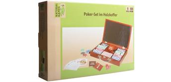 Natural Games Pokerset im Holzkoffer mit 200 Chips