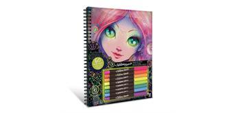 Nebulous Stars - Malbuch mit 8 Stiften