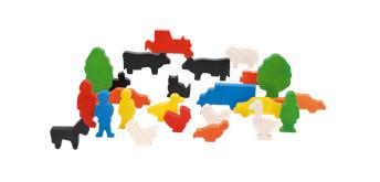 Nemmer Figuren und Tiere, Set mit 24 bunten Tieren