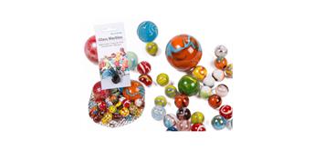 ootb - Glas-Murmeln, mehrfarbig sortiert, 500 g im Netz