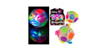 Ootb - Springball, Crazy Flashing, Regenbogen, ca. 8 cm
