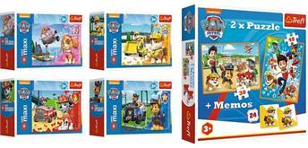 Paw Patrol Memo und 2 in 1 Puzzle und Minipuzzle