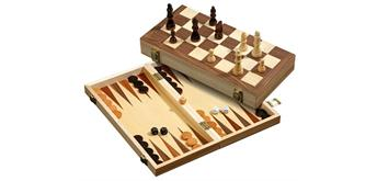 Philos Schach, Backgammon, Dame Set, 40mm