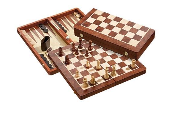 Philos Schach-Backgammon-Dame-Set, Feldgrösse 50 mm