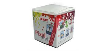 Pixel Bastelset 7 gross, 6 Medaillons im Würfel
