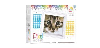 Pixel Geschenkverpackung - Katze mit Rahmen