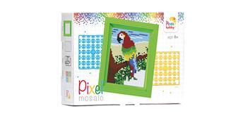 Pixel Geschenkverpackung - Papagei mit Rahmen