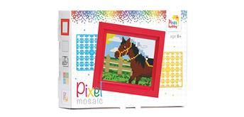 Pixel Geschenkverpackung - Pferd mit Rahmen
