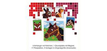 Pixel Mix Bastelset 14 - 4 Medaillons im Würfel