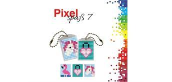 Pixel Spass 7 Medaillon Flamingo, Herzschloss, Einhorn
