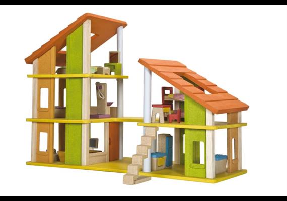 PlanToys Chalet Puppenhaus+Einrichtung